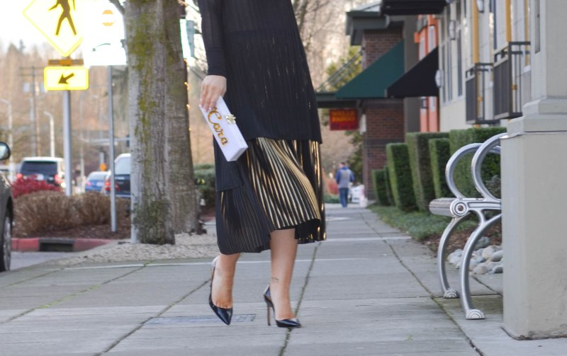 Warehouse Pleated Midi Skirt (6 of 1)